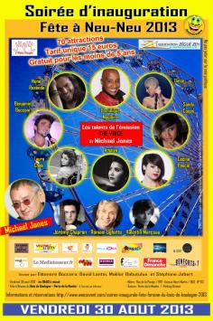 Affiche fête à Neuneu : Michael Jones / Talents The Voices
