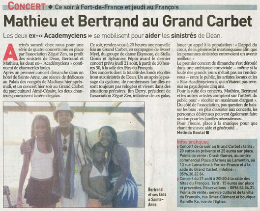 France-Antilles (août 2008)