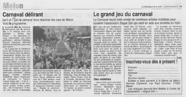 Article La République de Seine et Marne (24 mai 2010)