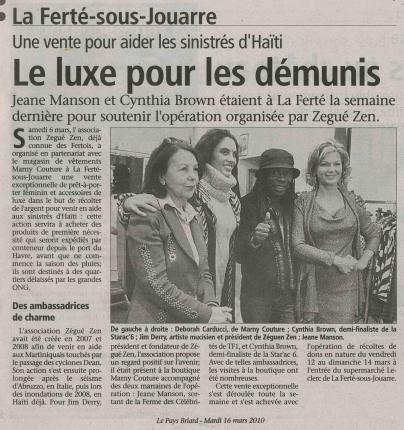 Le Pays Briard (16 mars 2010)