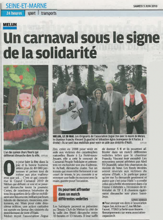 Article Le Parisien (5 juin 2010)