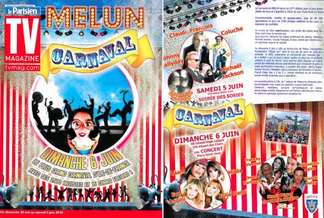 Couverture TV Magazine, supplément Le Parisien