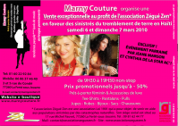 Flyer Evenement parrainé par Jeane Manson et Cynthia Brown (Star Ac')