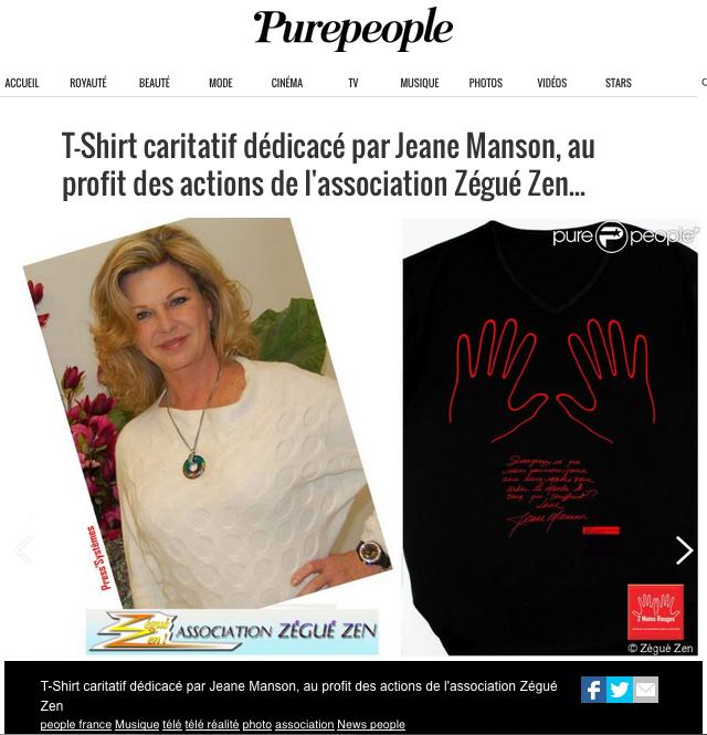 """""""Imaginez ce que nous pourrions faire avec les mains pour aider le monde et ceux qui souffrent"""" Jeane Manson"""