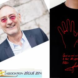 """""""Quand une main se tend, il faut mettre le coeur, alors zéguez zen pour les Philippins !"""" Michael Jones"""